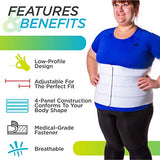 BraceAbility 3XL Plus Size Bariatric Abdominal Stomach Binder | Obesity Girdle Belt for Big Men & Women with a Large Belly, Post Surgery Tummy & Waist Compression Wrap