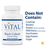 Vital Nutrients - Black Cohosh Extract - Menopause and PMS Support - 60 Capsules per Bottle - 250 mg