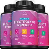 Premium Electrolyte Capsules – Support for Keto, Low Carb, Rehydration & Recovery - Electrolyte Replacement Capsules – Includes Electrolyte Salts, Magnesium, Sodium, Potassium – 100 Capsules