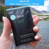 Zaca Recovery Chewable Supplement | Hydration + Liver Aid | Party, Travel, Exercise & Altitude | Sugar Free & Gluten Free | Mixed Berry, 6 Packs = 12 Tablets