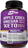 1600MG - Apple Cider Vinegar Capsules with Mother + Keto Diet Pills BHB Salts with MCT Oil - 120 Veggie Capsules - Best Ketosis, Detox, Cleanse Supplement, ACV Keto Pills Support for Women and Men