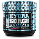 HYDRASURGE Electrolyte Powder - Hydration Supplement with Key Minerals, Himalayan Sea Salt, Coconut Water, More - Keto Friendly, Sugar Free & Naturally Sweetened - 60 Servings, Orange Mango
