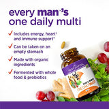 New Chapter Men's Multivitamin, Every Man's One Daily Fermented with Probiotics + Selenium + B Vitamins + Vitamin D3 + Organic Non-GMO Ingredients - 96 Count (Packaging May Vary)
