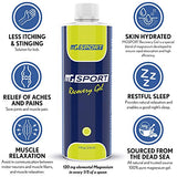 High Absorption Magnesium Gel for Leg Cramps - 7 oz. Topical Muscle Recovery Rub for Restless Leg Syndrome - Less Sting Than Magnesium Oil