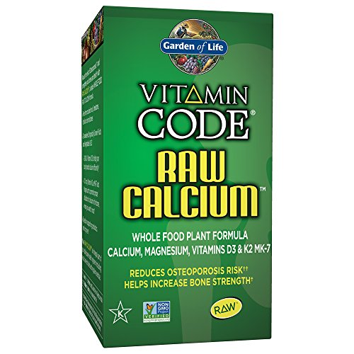 Garden of Life Raw Calcium Supplement - Vitamin Code Whole Food Calcium Vitamin for Bone Health, Vegetarian, 60 Capsules