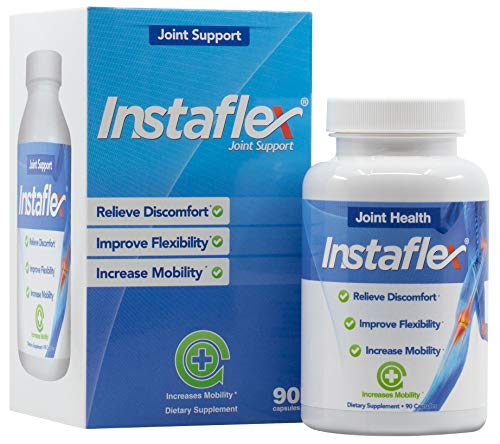 Instaflex Joint Support - Clinically Studied Joint Relief Blend of Glucosamine, MSM, White Willow, Turmeric, Ginger, Cayenne, Hyaluronic Acid - 90 Capsules