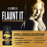 HAIRFLUENCE - Hair Growth Formula For Longer, Stronger, Healthier Hair - Scientifically Formulated with Biotin, Keratin, Bamboo & More! - For All Hair Types - Veggie Capsules