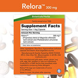 NOW Supplements, Relora 300 mg (a Blend of Plant Extracts from Magnolia officinalis and Phellodendron amurense), 60 Veg Capsules