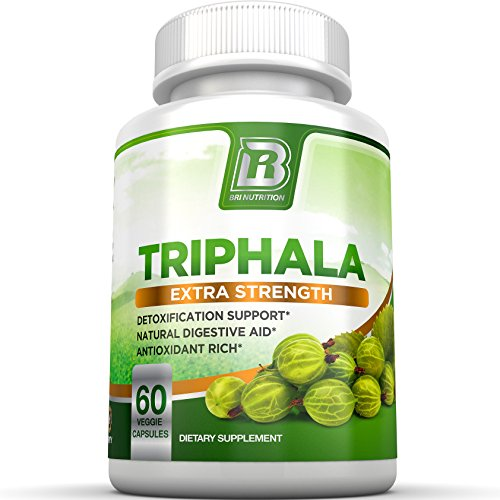 BRI Nutrition Triphala - 1000mg Veggie Himalaya Triphala Pure Extract Plus - 30 Day Supply - 60ct Vegetable Cellulose Capsules