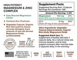 Rootcha High Potency Magnesium Zinc Complex – Sleep, Recovery, Immune Support (120ct)