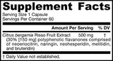 Jarrow Formulas Citrus Bergamot, Supports Blood Glucose Metabolism*, 500 Mg, 60 Veggie Caps