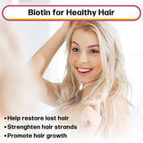 Biotin Liquid Drops (Mixed Berry) MAX Absorption Biotin Liquid Drops, 5000mcg of Biotin Per Serving, 60 Serving, No Artificial Preservatives, Vegan Friendly, Supports Healthy Hair Growth, Strong Nail