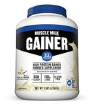 Muscle Milk Gainer Protein Powder, Vanilla Crème, 32g Protein, 5 Pound