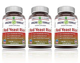 Amazing Formulas Red Yeast Rice Dietary Supplement 1200 mg of Best Quality Red Yeast Rice Powder Per Serving - Non-GMO – Supports Cardiovascular Health* (120 Count (Pack of 3))