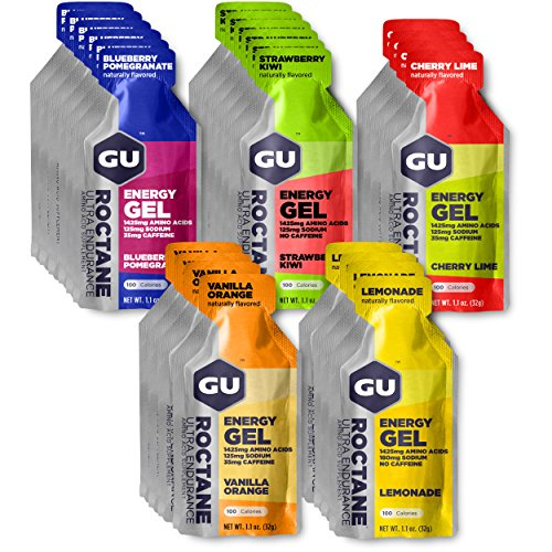 GU Energy Roctane Ultra Endurance Energy Gel, 24-Count, Assorted Flavors