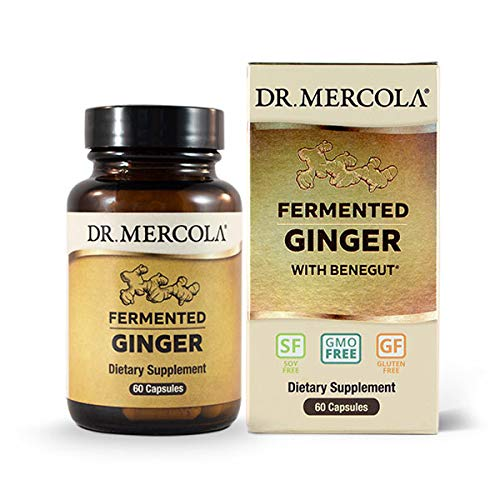 Dr. Mercola, Fermented Ginger, 30 Servings (60 Capsules), Non GMO, Soy-Free, Gluten-Free