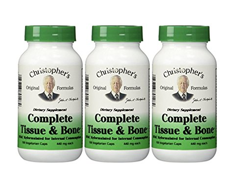 Dr. Christophers Formulas Complete Tissue and Bone, 440mg, 100 capsules (3 Pack)