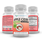 Apple Cider Vinegar Capsules - 100% Organic Apple Cider Vinegar Pills 1500 mg - Natural Digestion, Immune Booster Support & Cleansing Supplement with Probiotics - Made in The USA