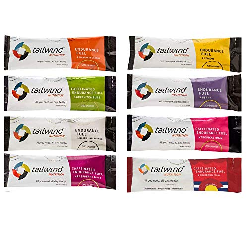 Tailwind Nutrition Endurance Fuel Assorted Flavors 8 Stick Pack Bag - Hydration Drink Mix with Electrolytes, Carbohydrates - Non-GMO, Gluten-Free, Vegan, No Soy or Dairy