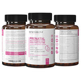 Prenatal Vitamins with DHA and Folate - Multivitamin Supplement with Iron, Calcium, Digestive Enzyme, Cognitive & Nausea Support - Before & During Pregnancy for Mom & Baby, 90 Gel Capsules