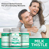 Premium Milk Thistle Extract by PurePremium (Non-GMO) Super-Concentrated Liver Cleanse, Anti-inflammatory and antioxidant. Plus Immune Support with Silymarin Extract.