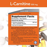 NOW Supplements, L-Carnitine 500mg, Purest Form, Amino Acid, Fitness Support*, 60 Veg Capsules