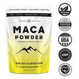 Organic Maca Powder - Peruvian Grown Maca Blend with Yellow, Black & Red Roots - Gelatinized for Superior Bioavailability - Natural, Vegan Non-GMO 8oz. Bag