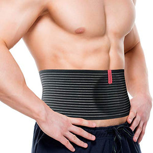 ORTONYX Umbilical Hernia Belt for Men and Women - Abdominal Support Binder with Compression Pad - Navel Ventral Epigastric Incisional and Belly Button Hernias Surgery Prevention Aid (Large-XXL)