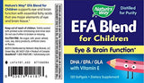 Nature's Way EFA Blend for Children Eye & Brain Function DHA / EPA with Vitamin E, 120 Softgels