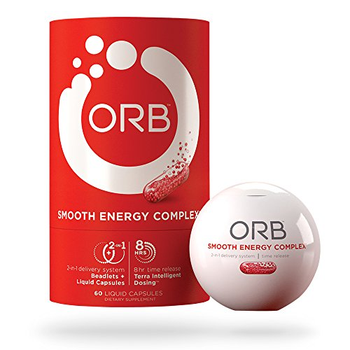 ORB Smooth Energy Complex – Energy Formula + MCT Oil for Easier Absorption | Provides Sustained Smooth Energy, Supports an Alert Mental State, Time-Released Beadlets for Consistent Energy – 60 Count