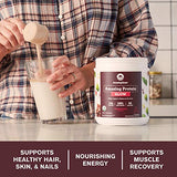Amazing Grass GLOW Vegan Collagen Support with Biotin and Plant Based Protein Powder, Chocolate Rose, 15 Servings