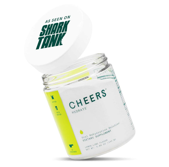 Cheers (Formerly Thrive+) ORS Electrolyte Powder- Electrolyte Supplement & Hydration Powder Hangover Prevention & Cure (12 Servings) - Hydration Electrolyte Supplement - Delicious Lemon/Lime Flavor
