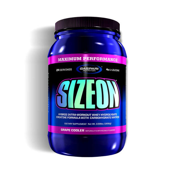 Gaspari Nutrition Size On Max Performance, Grape Cooler , Net Wt. 3.59 lbs.