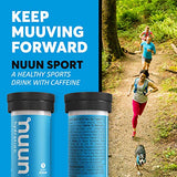 Nuun Sport + Caffeine: Electrolyte Drink Tablets, Wild Berry, 1 Tube (10 Servings)