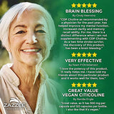 Zazzee Citicoline CDP Choline 300 mg, 120 Veggie Capsules, Vegan, Non-GMO and All-Natural, Premium Grade, Contains Organic Stabilizers