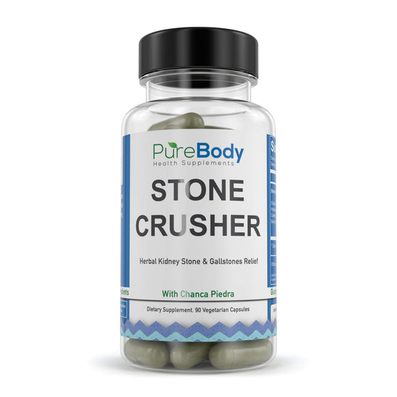 Chanca Piedra Best Kidney Stone Dissolver Treatment, Stone Crusher by Pure Body Health Supplements: Natural Gallbladder Cleanse, Easy to Swallow Small Vegetable Capsules, Herbal Detox with Hydrangea