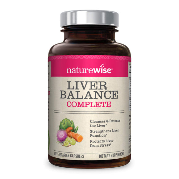 NatureWise Liver Cleanse Premium Detox | Advanced Triple Formula Liver Detoxifier Regenerator & Protector | Natural Herbal Supplements with Milk Thistle, Turmeric Curcumin [1 Month Supply - 60 Count]