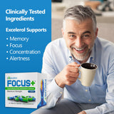 Focus+ Brain Supplement and Memory Support Pills 60 ct