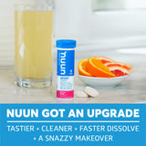 Nuun Sport: Electrolyte Tablets, Effervescent Hydration Supplement, Citrus Fruit, Box of 8 Tubes (80 servings), Sports Drink for Replenishment of Essential Electrolytes Lost Through Sweat