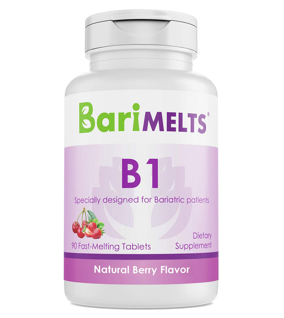 BariMelts B1, Dissolvable Bariatric Vitamins, Natural Berry Flavor, 90 Fast Melting Tablets