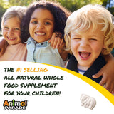 NaturesPlus Animal Parade Source of Life Warm Milk Children's Chewable Sleep Support - 30 Animal Shaped Tablets - Gluten-Free, Lactose Free, Sugar-Free - Non-GMO, Yeast-Free - 15 Servings