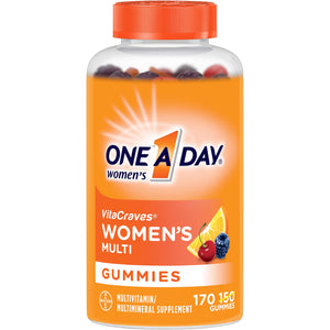 One A Day Women's VitaCraves Multivitamin Gummies, Supplement with Vitamins A, C, E, B6, B12, Calcium, and Vitamin D, 170 Count