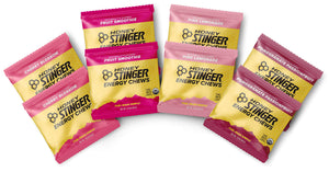 Honey Stinger Organic Energy Chews - Variety Pack - 8 Count - 2 of Each Flavor - Chewy Gummy Energy Source for Any Activity - Pink Lemonade, Fruit Smoothie, Pomegranate Passionfruit & Cherry Blossom