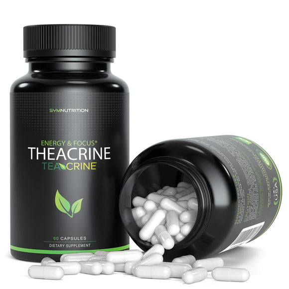Theacrine 100mg as TeacrineTM - 60 Count (V-Capsules) / 60 Servings; A Superior Caffeine Replacement Taken for Better Focus, Energy, Mood & Motivation | Non-GMO, Vegan & Gluten Free