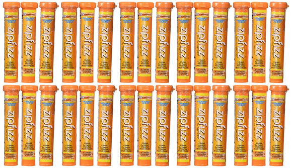 Zipfizz Orange Soda Healthy Energy Drink Mix - Transform Your Water Into a Healthy Energy Drink - 30 Orange Soda Tubes