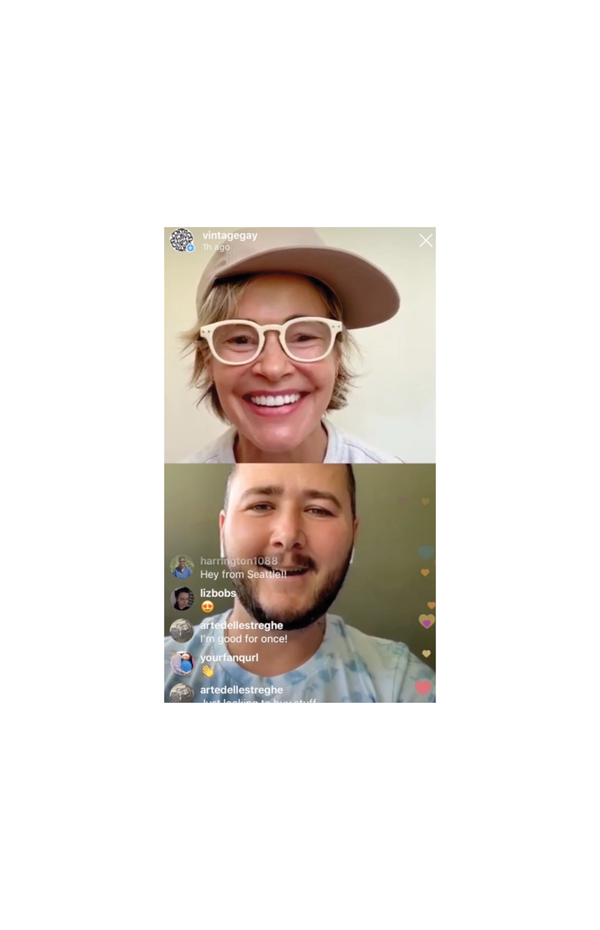 Leisha Hailey and Xavier Schipani have an IG Live interview to review Xavier's new designs for Vintage Gay in celebration of PRIDE and reviews his inspiration, history and future plans.
