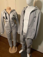 His and hers sweatsuit