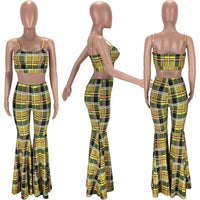 Rosetta plaid two piece