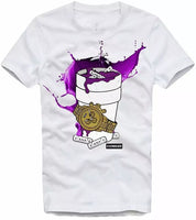 Men Purple drip shirt