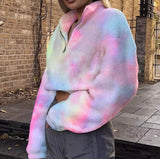 Cotton candy crop hoodie